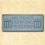 Larkin Prudence Learning Wisdom Plaque