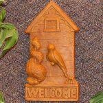 Birdhouse Welcome Plaque Tc