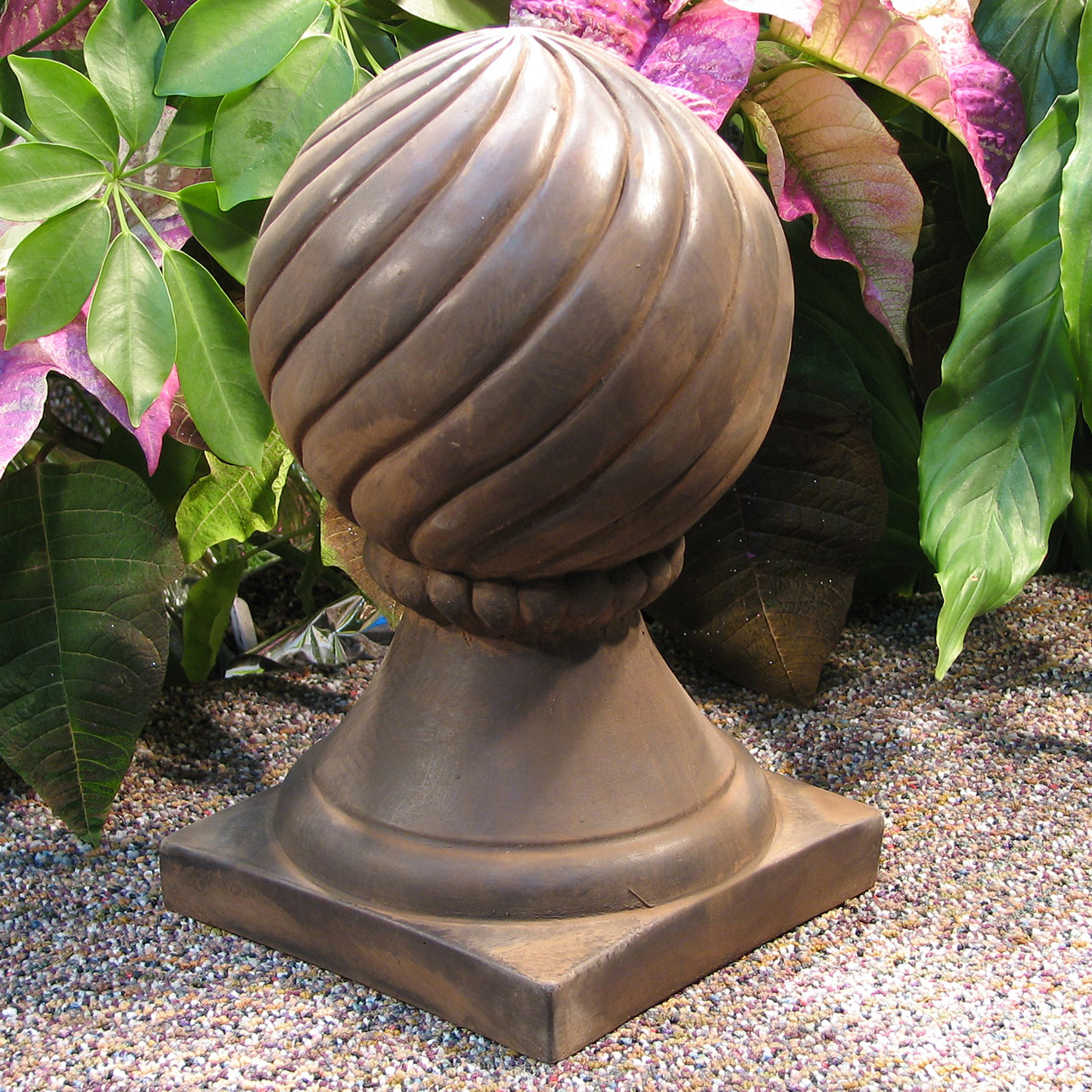 Spiral Ball Finial Dw