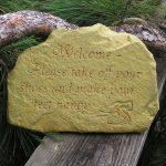 Welcome Happy Feet Stone Wb