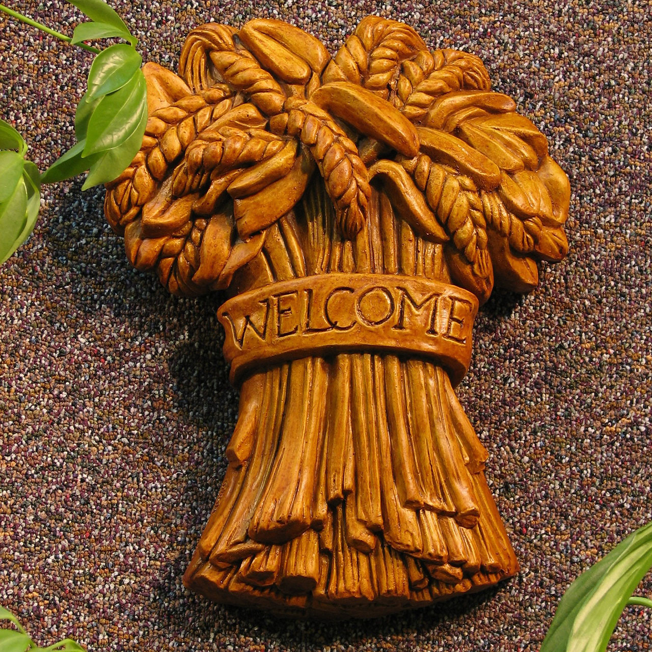 Wheat Welcome Plaque Tc