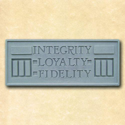 Larkin Integrity Loyalty Fidelity Plaque