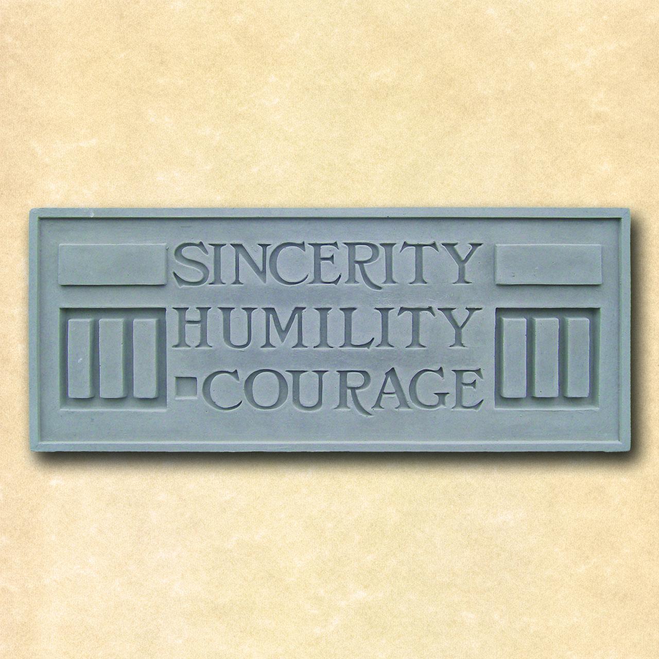 Larkin Sincerity Humility Courage Plaque