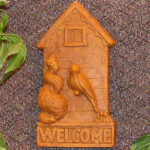 Birdhouse Welcome Plaque Tc