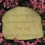 Cat Memorial Stone Wb