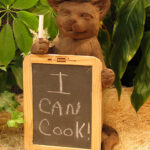 Chef Cat With Chalkboard Dw